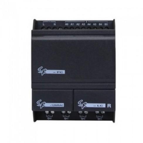 SR-12MTDC 12...24V DC, 8 дискретных (6 аналоговых) вх. DC, 4 транзисторных NPN вых.