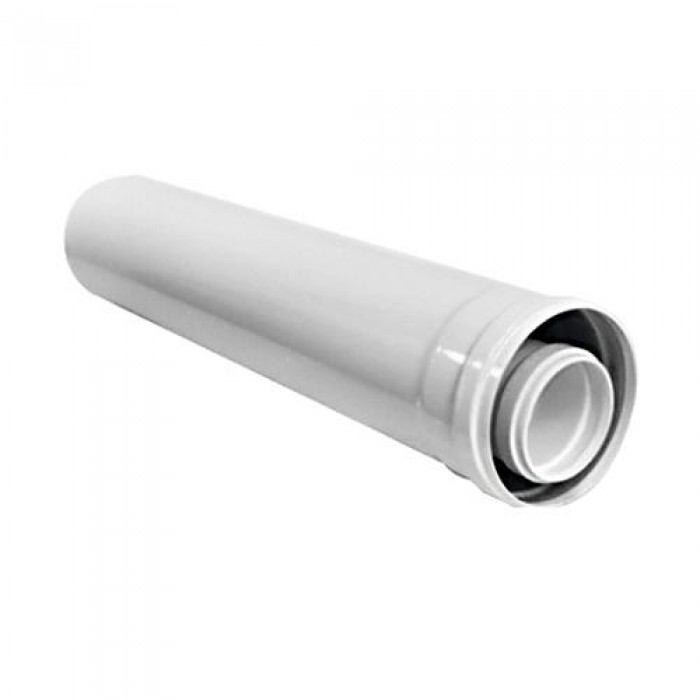 Соосная труба диам. 60/100 мм, длина 0,5 м,Т1D