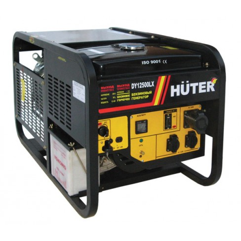 Электрогенератор бензиновый Huter DY12500LX