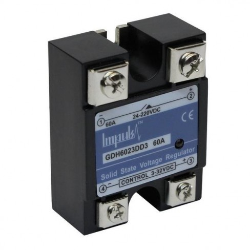 Твердотельные реле GDH6023DD3 (60A, 220V DC, 3...32V DC)