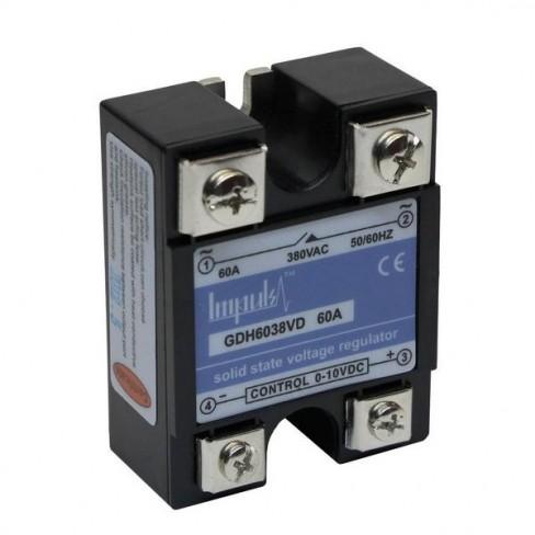 Твердотельные реле GDH6038VD (60A, 380V AC, 0-10V DC)