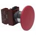 """Кнопка """"грибок"""" C2PNR6 R 1B с фиксацией красная, d=60мм, 1 Н.З."""