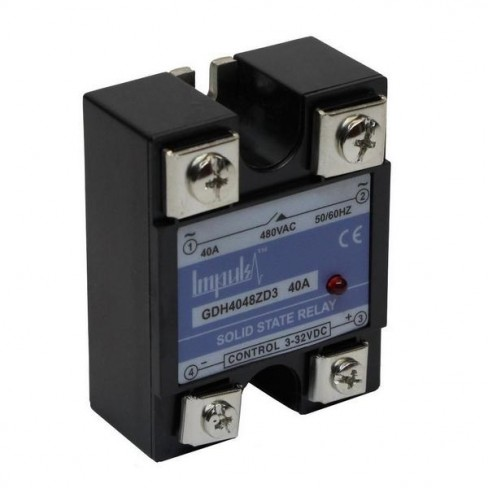 Твердотельные реле GDH4048ZD3 (40A, 480V AC, 3...32V DC)