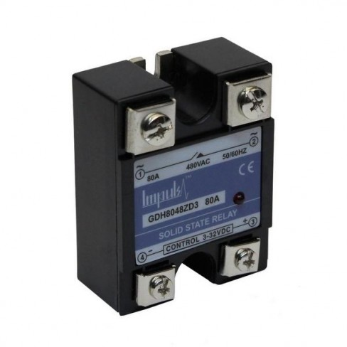 Твердотельные реле GDH8048ZD3 (80A, 480V AC, 3...32V DC)