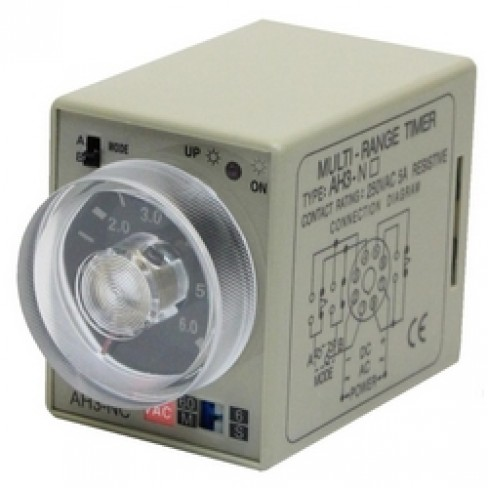 Реле времени AH3-NC-220V AC 6с-60м