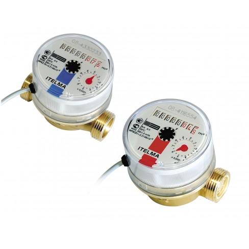 Счетчик холодной воды ITELMA WFK24.D080 ДУ=15 ММ, L=80 ММ (без комплектующих)