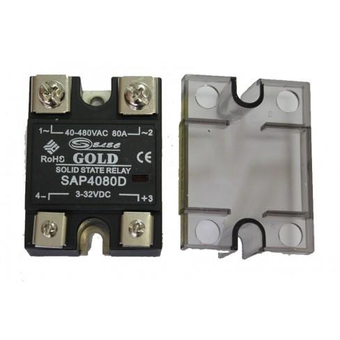 Твердотельное реле SAP-4080D (80A, 480V AC, 3...32V DC)