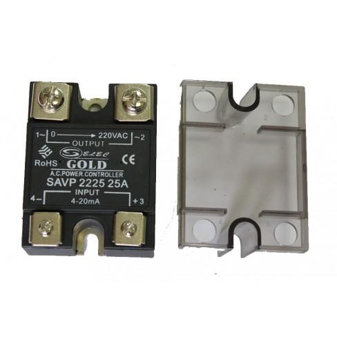 Твердотельное реле SAVP-2225 (25A, 220V AC, 4-20мА DC)