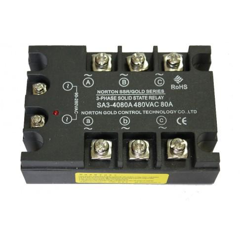 Твердотельное реле SA3-4080A (80A, 480V AC, 80...280V AC)