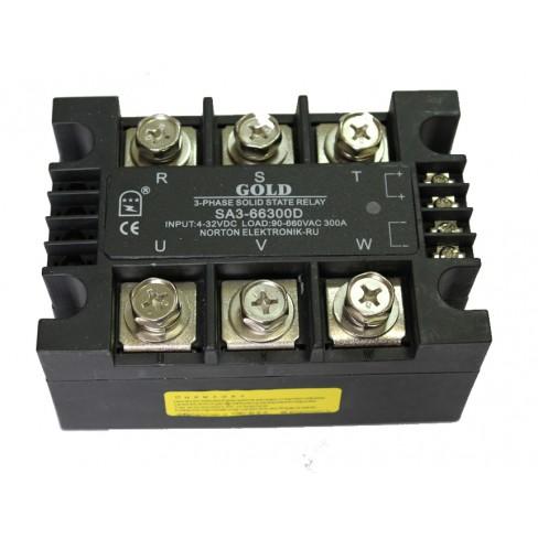 Твердотельное реле SA3-66300D (300A, 660V AC, 3...32V DC)