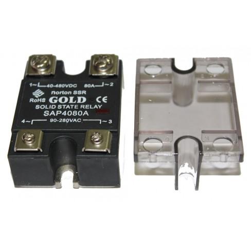 Твердотельное реле SAP-4080A (80A, 480V AC, 80...280V AC)