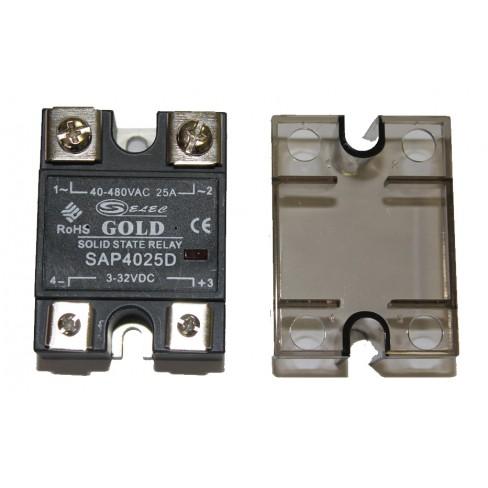 Твердотельное реле SAP-4025D (25A, 480V AC, 3...32V DC)