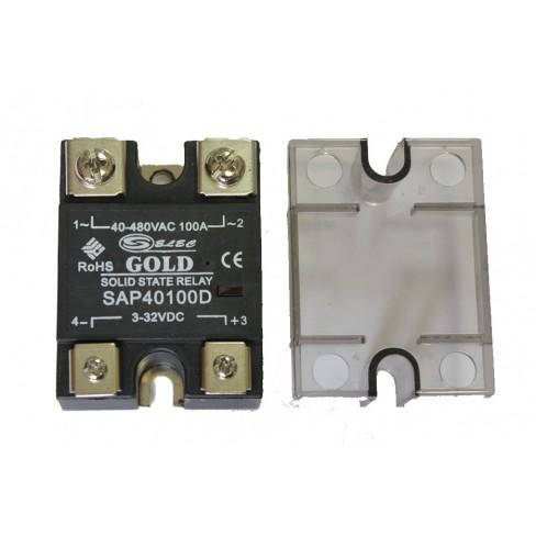 Твердотельное реле SAP-40100D (100A, 480V AC, 3...32V DC)