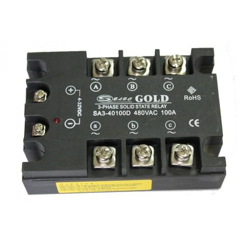 Твердотельное реле SA3-40100D (100A, 480V AC, 3...32V DC)