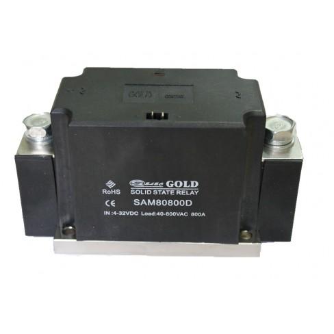 Твердотельное реле SAM-80800D (800A, 800V AC, 3...32V DC)