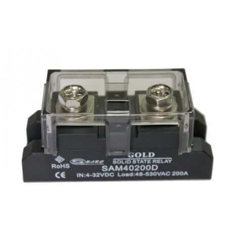 Твердотельное реле SAM-40200D (200A, 530V AC, 3...32V DC)
