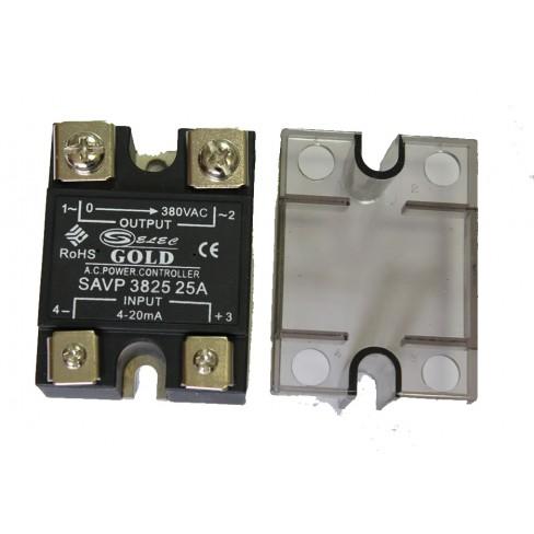 Твердотельное реле SAVP-3825 (25A, 380V AC, 4-20мА DC)