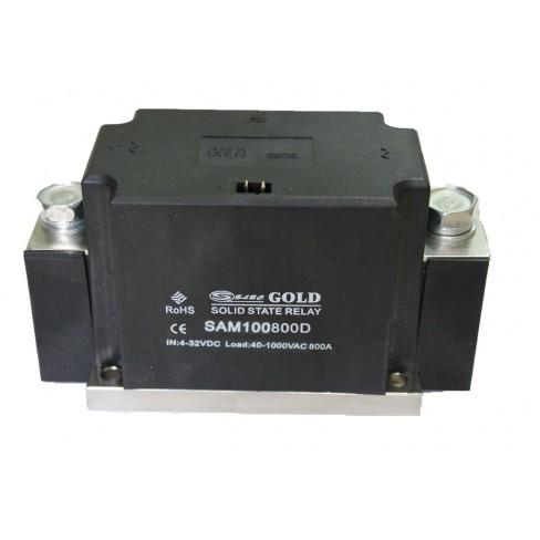 Твердотельное реле SAM-100800D (800A, 1000V AC, 3...32V DC)