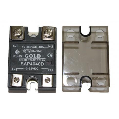 Твердотельное реле SAP-4040D (40A, 480V AC, 3...32V DC)