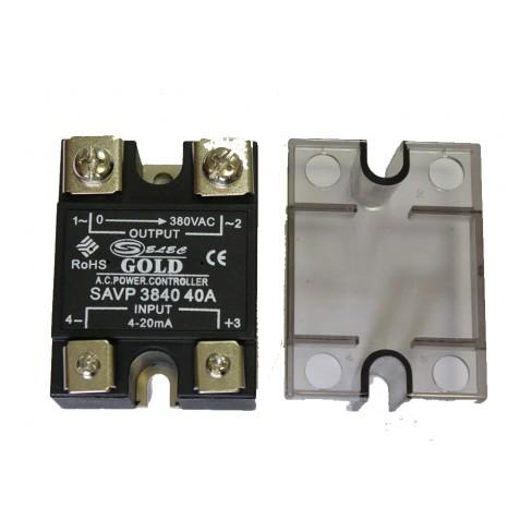 Твердотельное реле SAVP-3840 (40A, 380V AC, 4-20мА DC)