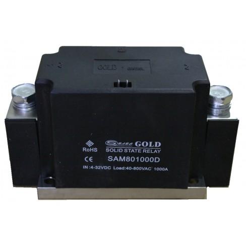 Твердотельное реле SAM-801000D (1000A, 800V AC, 3...32V DC)