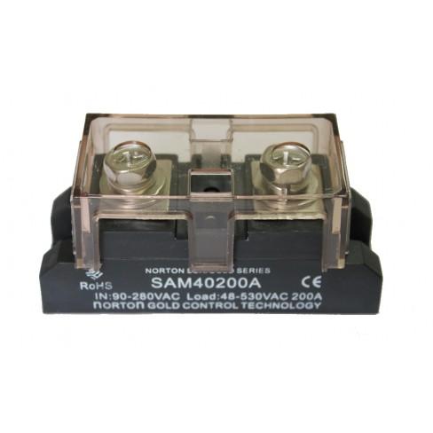Твердотельное реле SAM-40200A (200A, 530V AC, 80...280V AC)