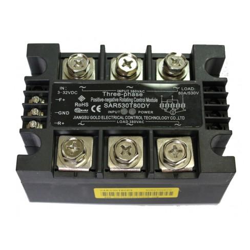 Твердотельное реле SAR530T80DY (80A, 530V AC, 10...32V DC)