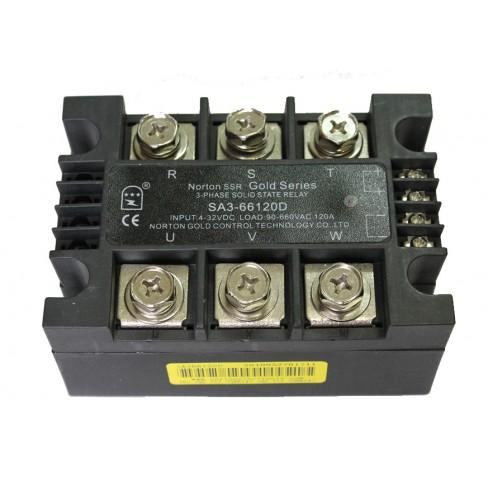 Твердотельное реле SA3-66120D (120A, 660V AC, 3...32V DC)