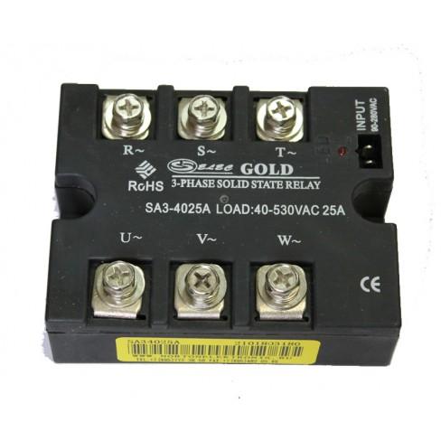Твердотельное реле SA3-4025A (25A, 480V AC, 80...280V AC)