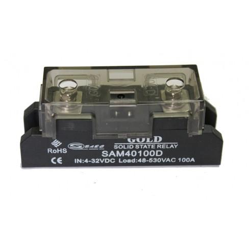 Твердотельное реле SAM-40100D (100A, 530V AC, 3...32V DC)