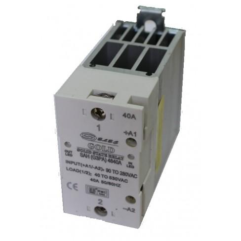 Твердотельное реле SAH-4840A (40A, 530V AC, 80...280V AC) с радиатором