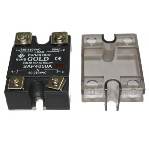 Твердотельное реле SAP-4050A (50A, 480V AC, 80...280V AC)