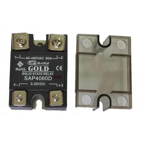 Твердотельное реле SAP-4060D (60A, 480V AC, 3...32V DC)