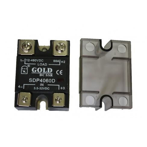 Твердотельное реле SDP-4060D (60A, 480V DC, 3...32V DC)