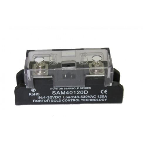 Твердотельное реле SAM-40120D (120A, 530V AC, 3...32V DC)