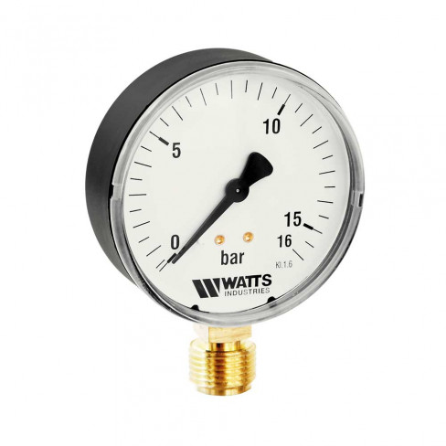 Манометр MDR 63/16 0-16bar RAD G 1/4 (F+R200) WATTS (10007725)